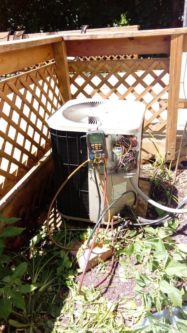 Palatine, IL - Starting manufacturer recommended annual maintenance on 19 year old Goodman air conditioner
