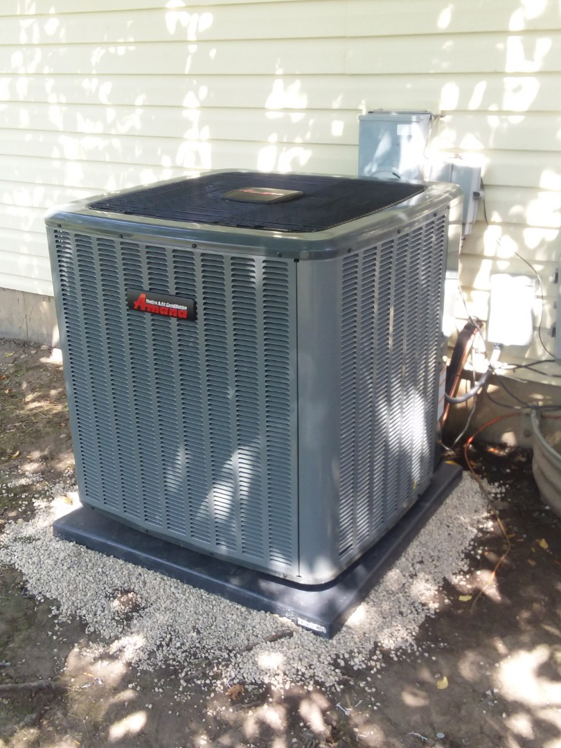 Hoffman Estates, IL - Installing a new 16 seer Amana a/c system in Hoffman Estates to solve cooling issues.