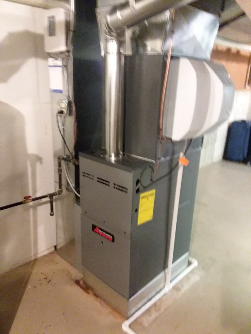 Schaumburg, IL - Replacing a furnace and air conditioning in Schaumburg with a more efficient unit to save on electricity