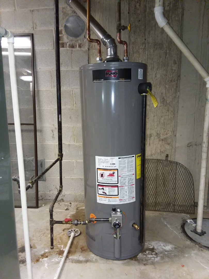 Palatine, IL - Installing a new Ruud 50 gallon water heater in Palatine.