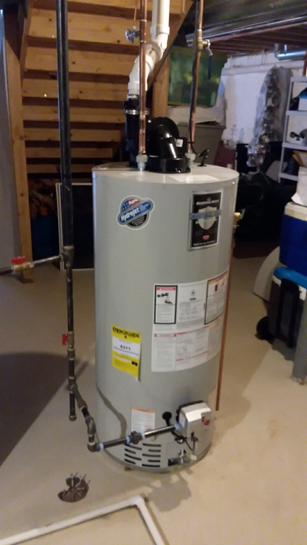 Streamwood, IL - Install 50 gallon hot water tank that is power vented