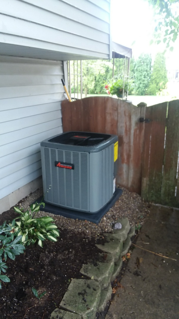 Hoffman Estates, IL - Installing a new Amana air conditioner and furnace in Hoffman estates