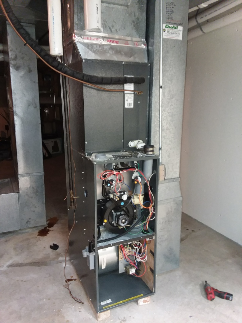 Naperville, IL - Replacing 2 Amana furnaces with high efficient modulating