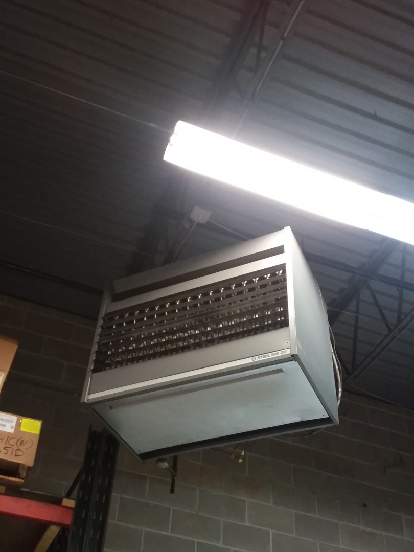Elgin, IL - Replacing a big unit heater  for a commercial property