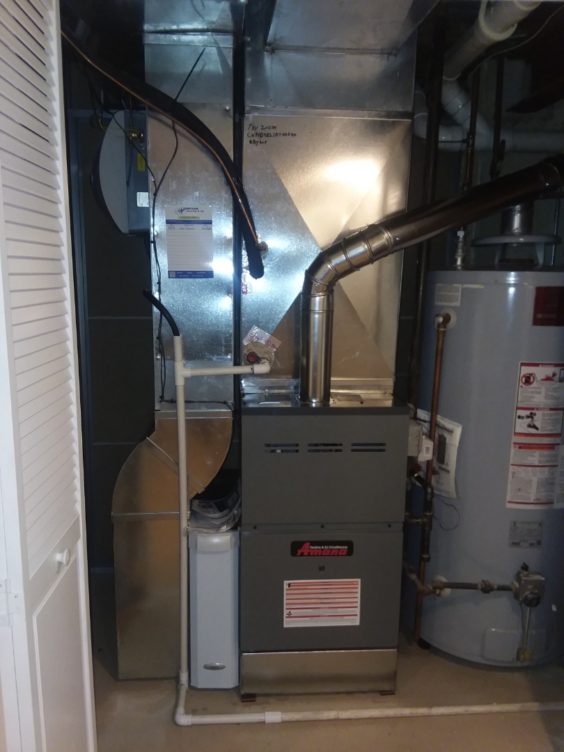 Carpentersville, IL - Installing a new amana furnace.