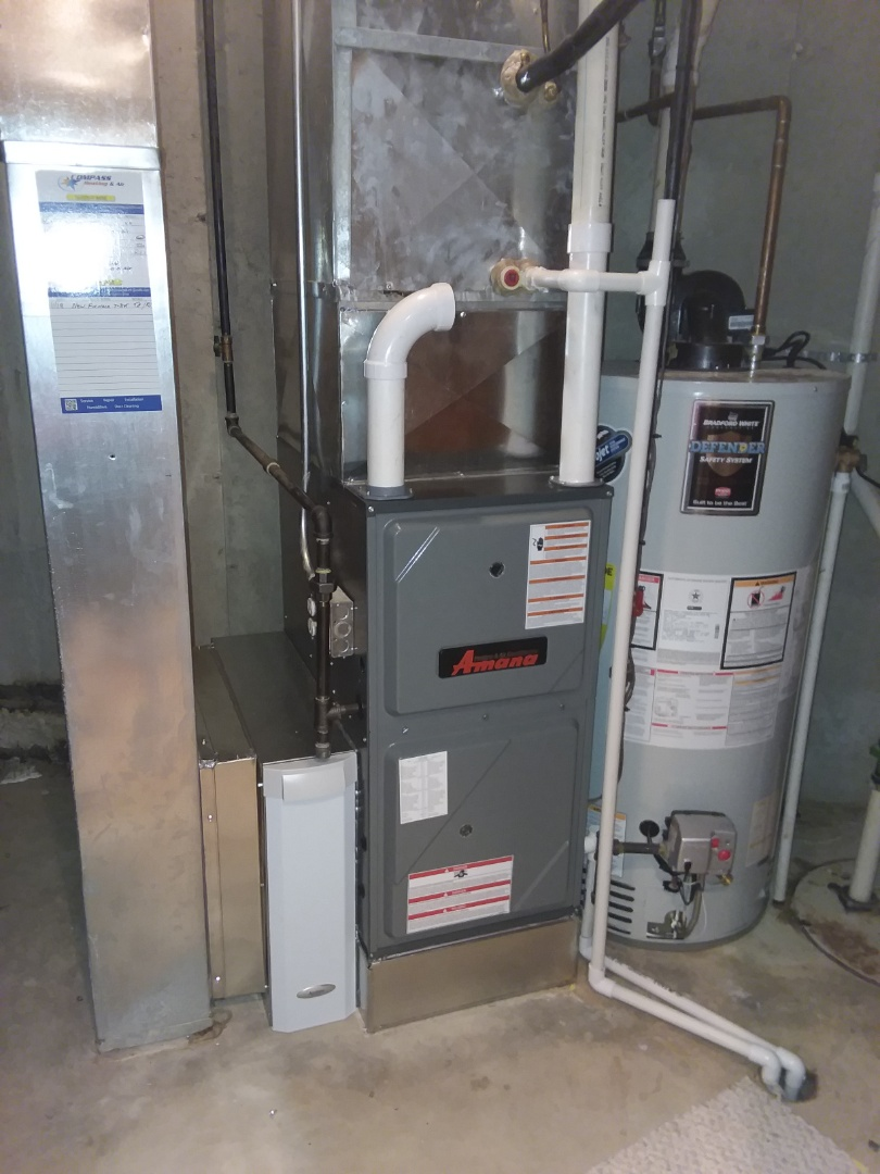Tower Lakes, IL - Installing a new amana furnace.