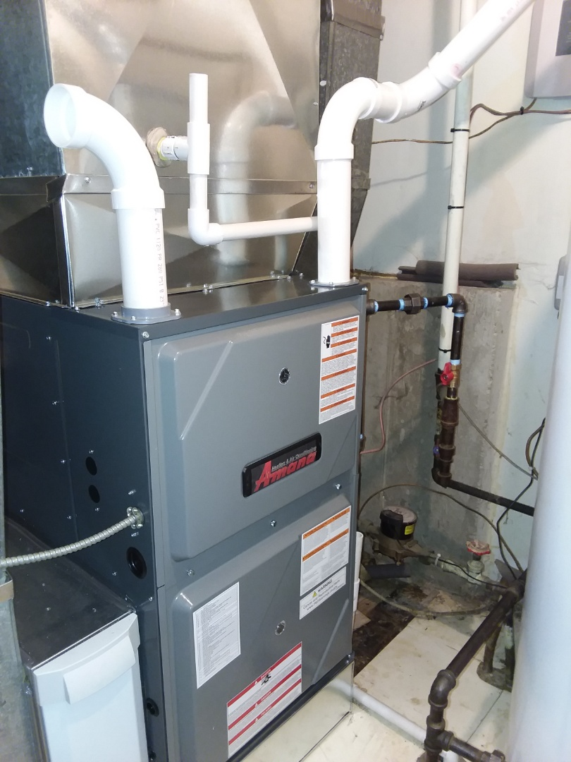 Schaumburg, IL - Installing a new modulating 97% efficiency  Furnace air cleaner and t stat
