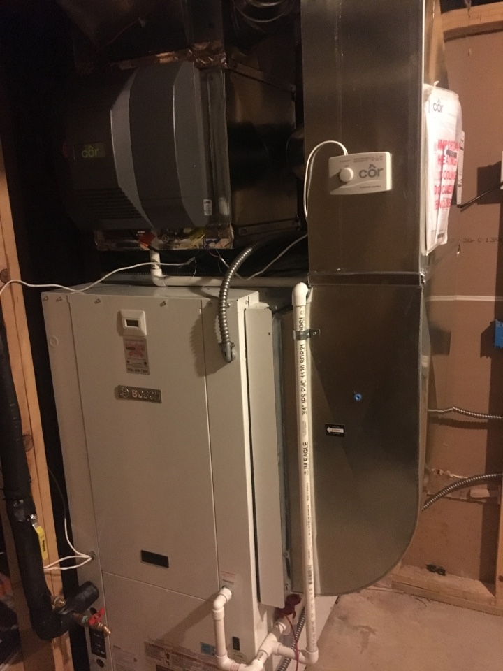 Hudsonville, MI - geothermal heat pump installation call.  performed geothermal install on bosch unit