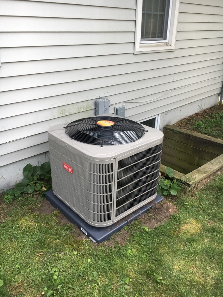 Wyoming, MI - Installed a new Bryant air conditioner