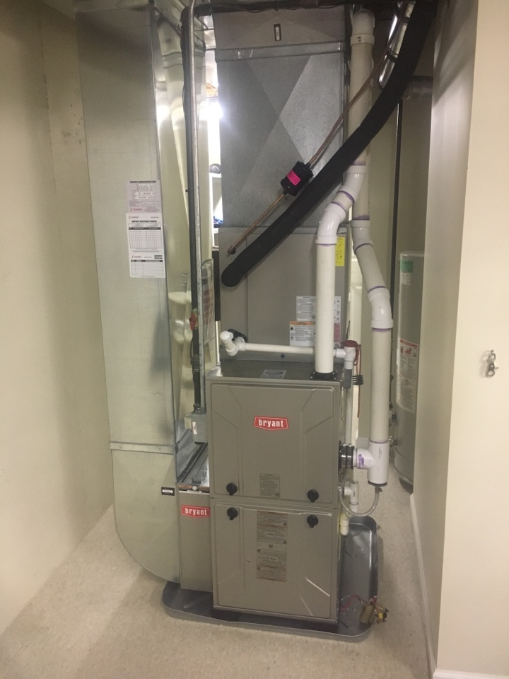 Georgetown Township, MI - Furnace and ac installation call.  Performed furnace and ac install on Bryant furnace and ac