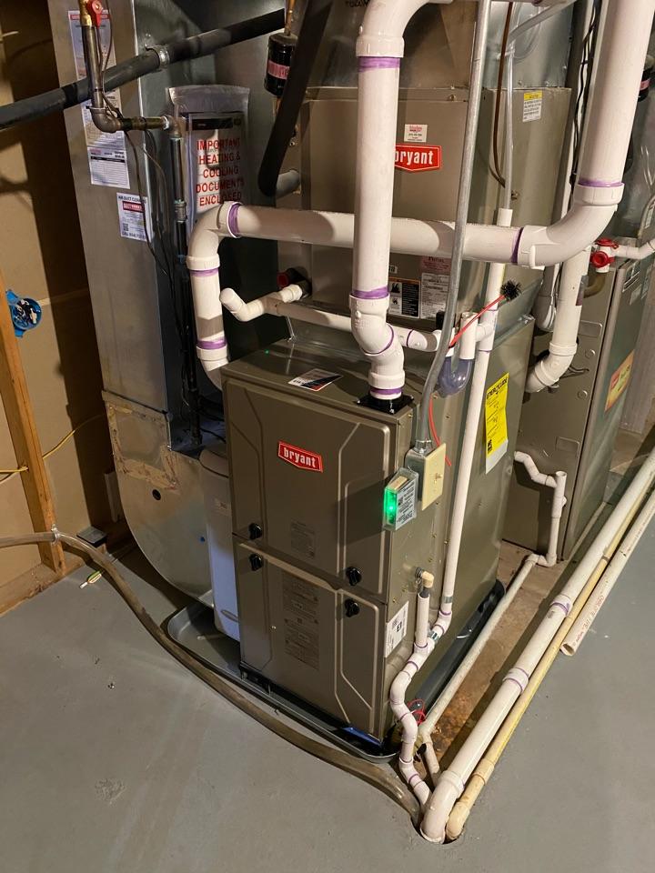 East Grand Rapids, MI - Installed new Bryant furnace