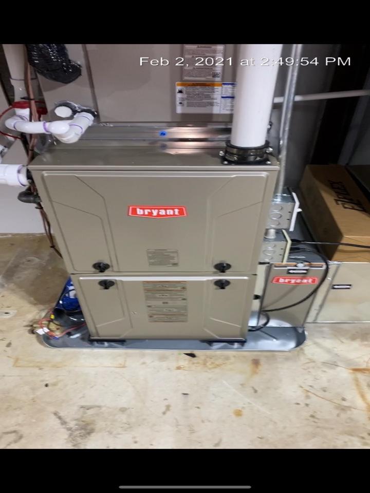Kentwood, MI - Furnace installation call.  Performed furnace install on Bryant furnace