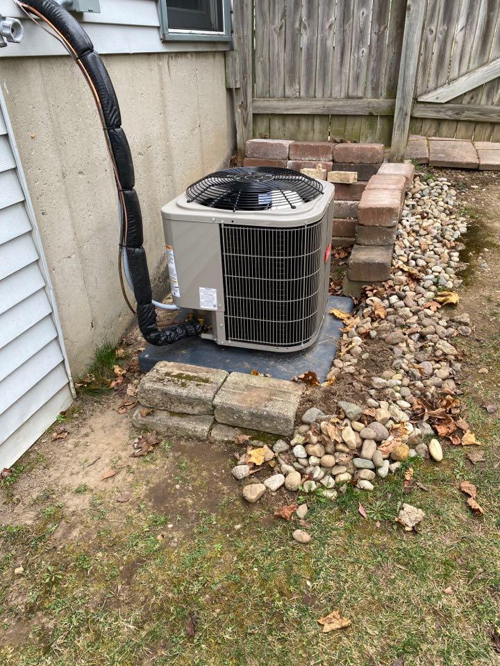Georgetown Township, MI - Air Conditioner service call.  Performed service on Bryant Air Conditioner
