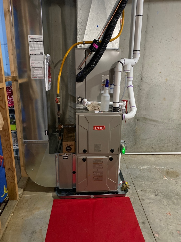 Greenville, MI - Furnace and air conditioner installation call.  Performed furnace and air conditioner installation on Bryant Furnace and air conditioner