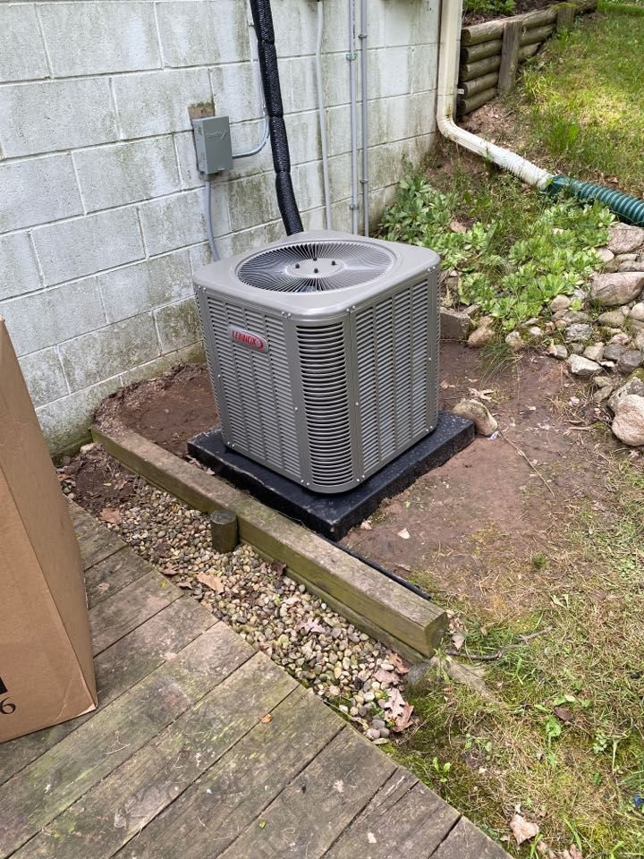 Rockford, MI - air conditioner and furnace installation call.  Performed ac and furnace install on Lennox furnace and air conditioner