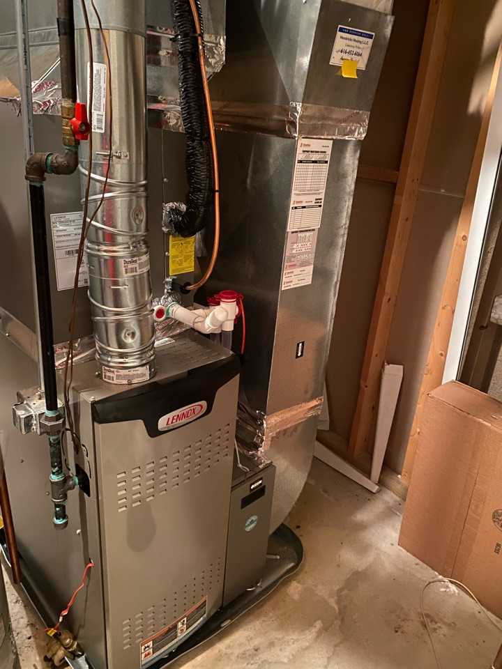 Grand Rapids, MI - Furnace and air conditioner installation call.  Performed furnace and air conditioner install on Lennox ac and furnace