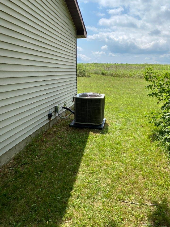 Sand Lake, MI - air conditioner installation call.  Performed ac Install on air conditioner