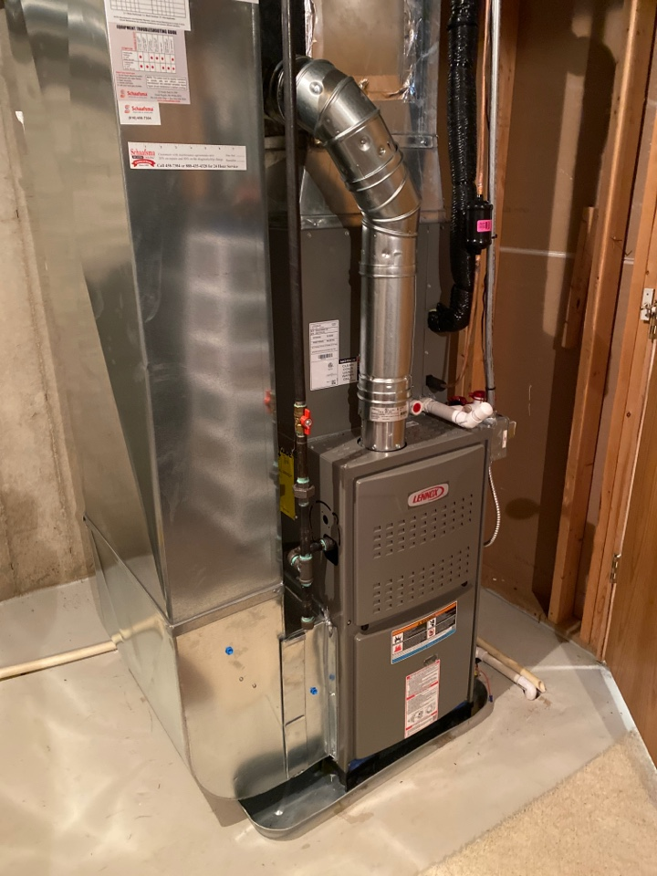 Byron Center, MI - Furnace and air conditioner installation call.  Performed furnace and ac install on Lennox furnace and air conditioner