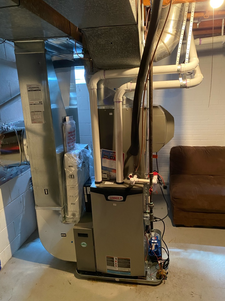 Wyoming, MI - furnace, air conditioner, humidifier Installation call.  Performed furnace, ac, humidifier install on Lennox hvac system