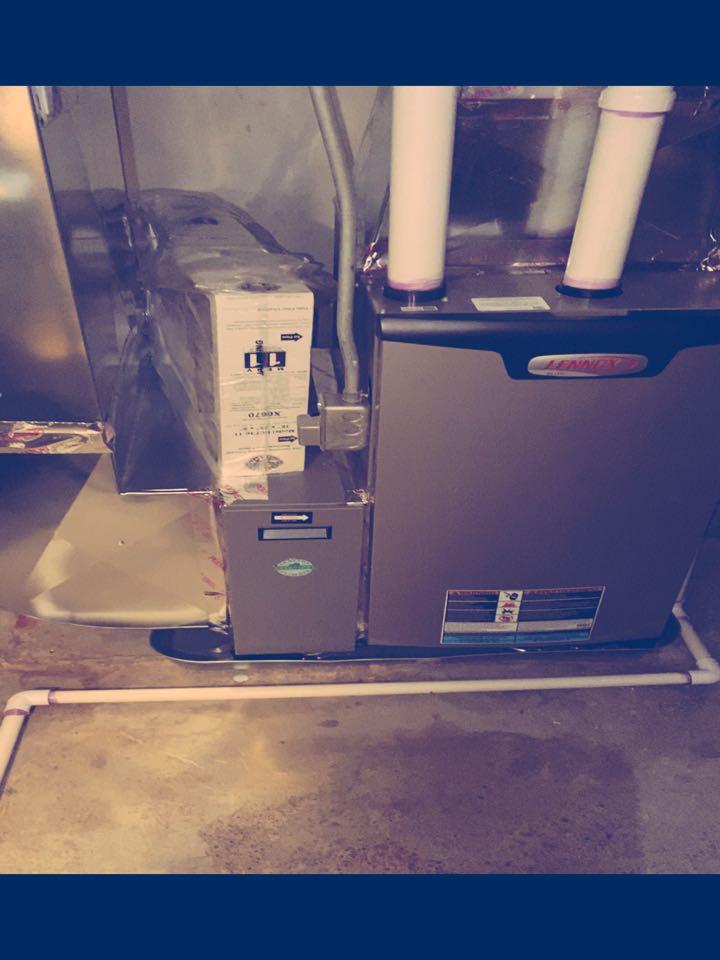 Walker, MI - Furnace installation call.  Performed furnace install on Lennox furnace