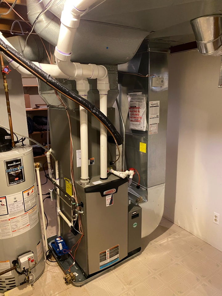 Ada, MI - Installation of a Lennox furnace and air conditioner with humidifier