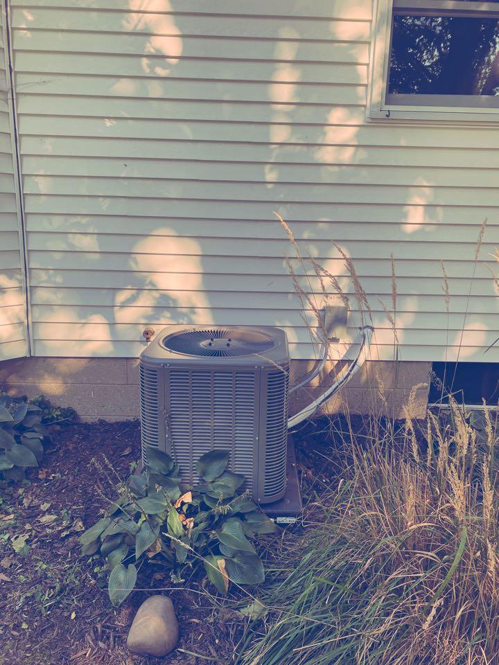 Sparta, MI - furnace and ac installation call.  Performed furnace and ac install on Lennox furnace and ac
