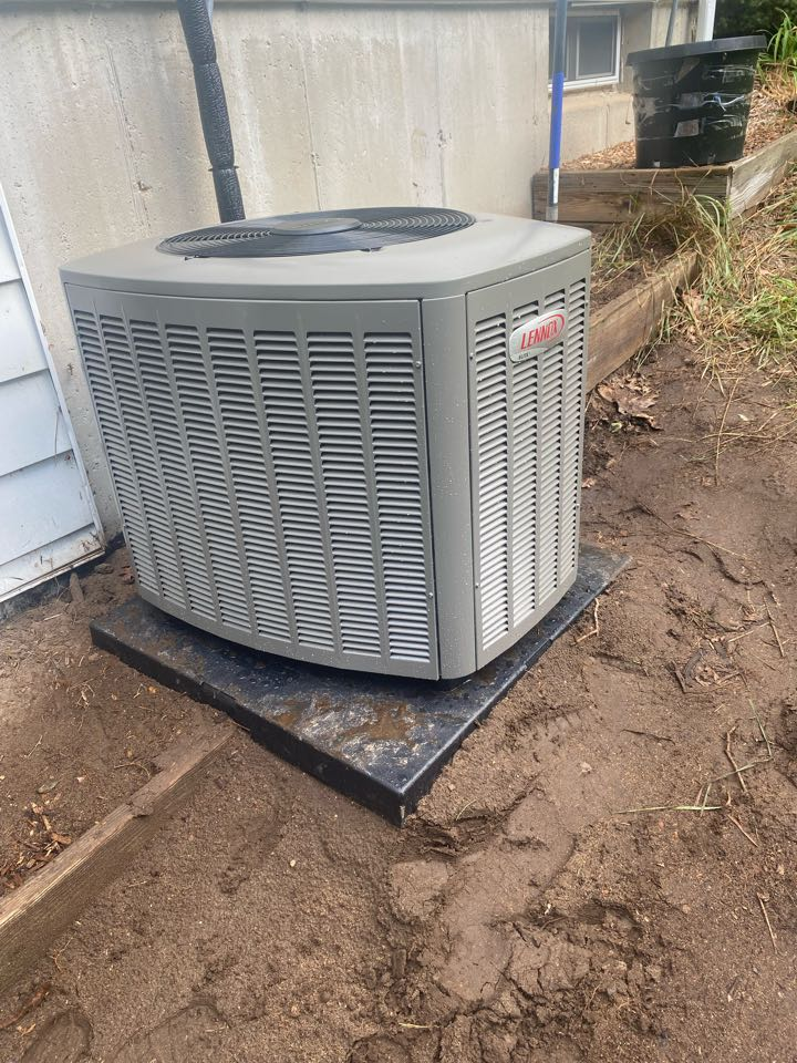 Caledonia, MI - Furnace and air conditioner installation call.  Performed furnace and ac install on Lennox air conditioner and furnace