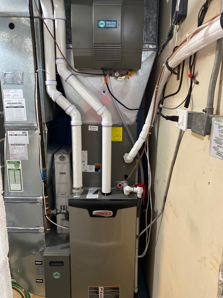 Rockford, MI - Furnace replacement with AC air scrubber new thermostat new drop parts a new humidifier