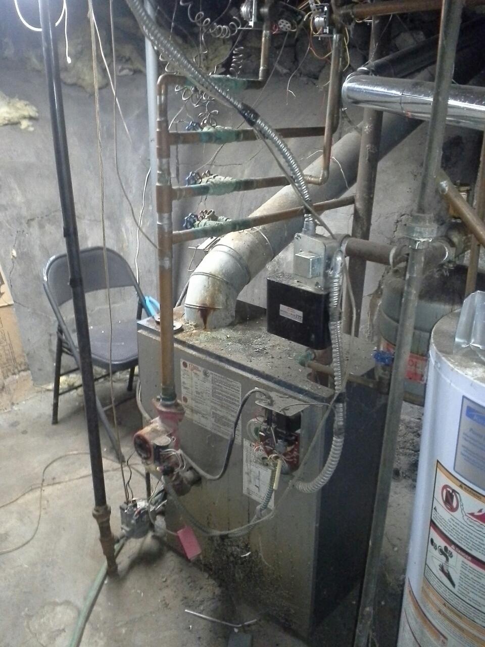 Belding, MI - boiler installation