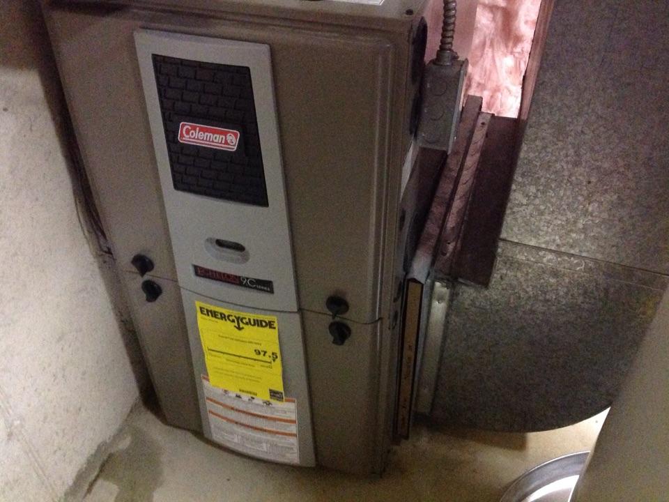 Hudsonville, MI - Coleman furnace repair