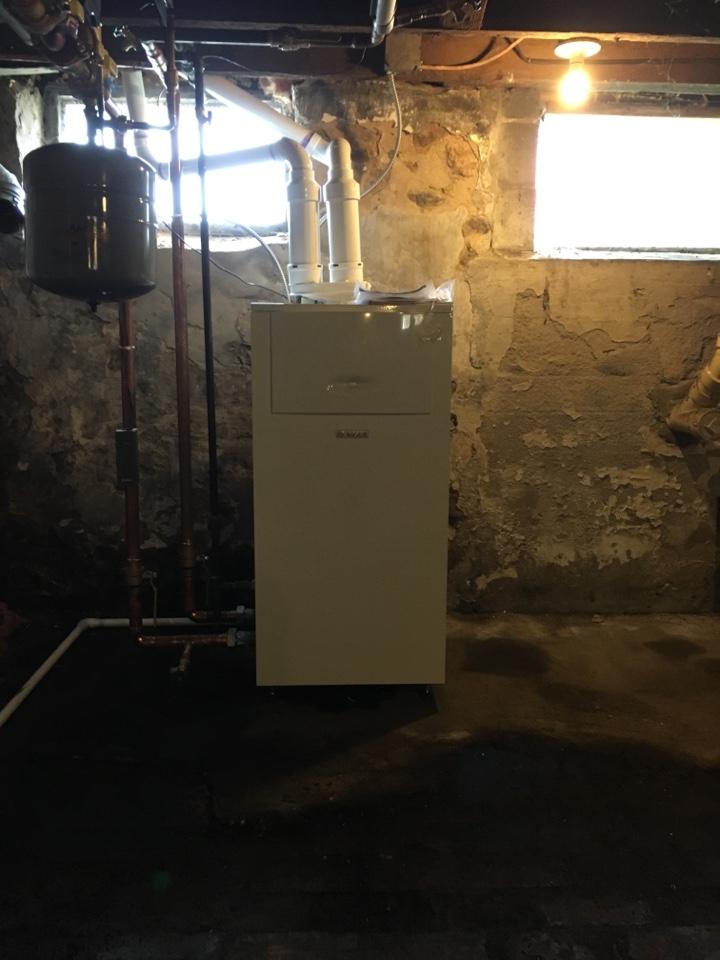 Coopersville, MI - Installed a 90% boiler