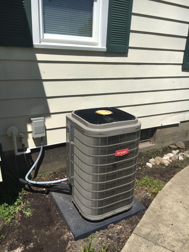 Alto, MI - furnace and air conditioner Installation call. performed furnace and ac install on bryant unit