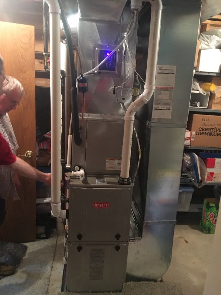 Georgetown Township, MI - furnace installation call. performed furnace install on bryant unit