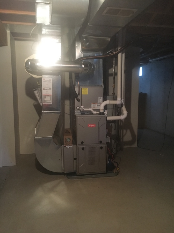 Georgetown Township, MI - furnace and ac installation call. performed furnace and ac install on bryant unit