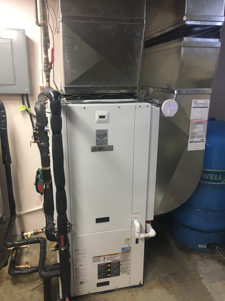 Sand Lake, MI - geothermal installation call. performed geothermal install on bosch unit