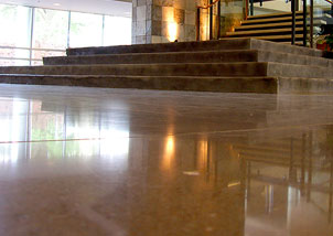 We absolutely love how the hotel's lobby floor turned out!! Scientific Concrete Polishing really helped in giving our concrete floor a beautiful shine! We are always receiving compliments about the floor from our guests. If you are in the commercial business and looking for the perfect floor for your business, we highly recommend a polished floor using SCP products. It is easy to clean and maintain which is super helpful with the constant traffic of employees and guests on a daily basis.
