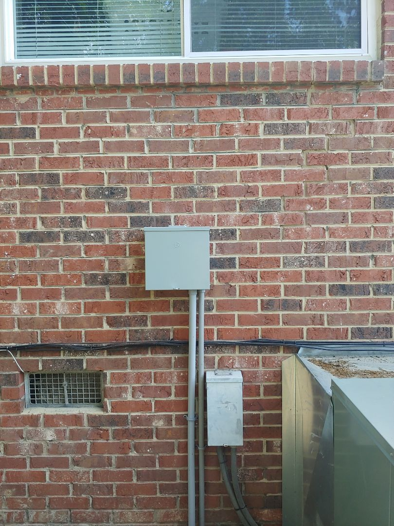 Install outside sub panel and Outlets