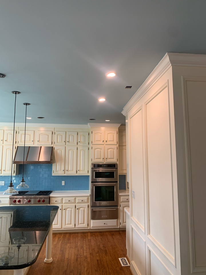 """Electrician near me in Marietta ga added new 4"""" cans in kitchen."""