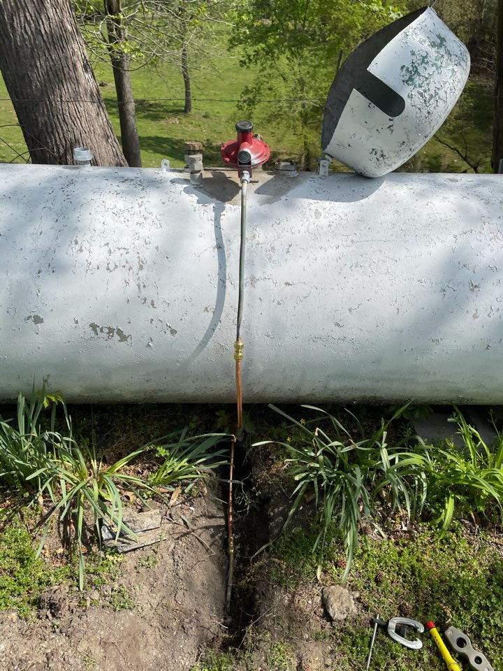 A plumber near me in Fairmount, GA was able to fix and alter gas line from being struck by lawnmower
