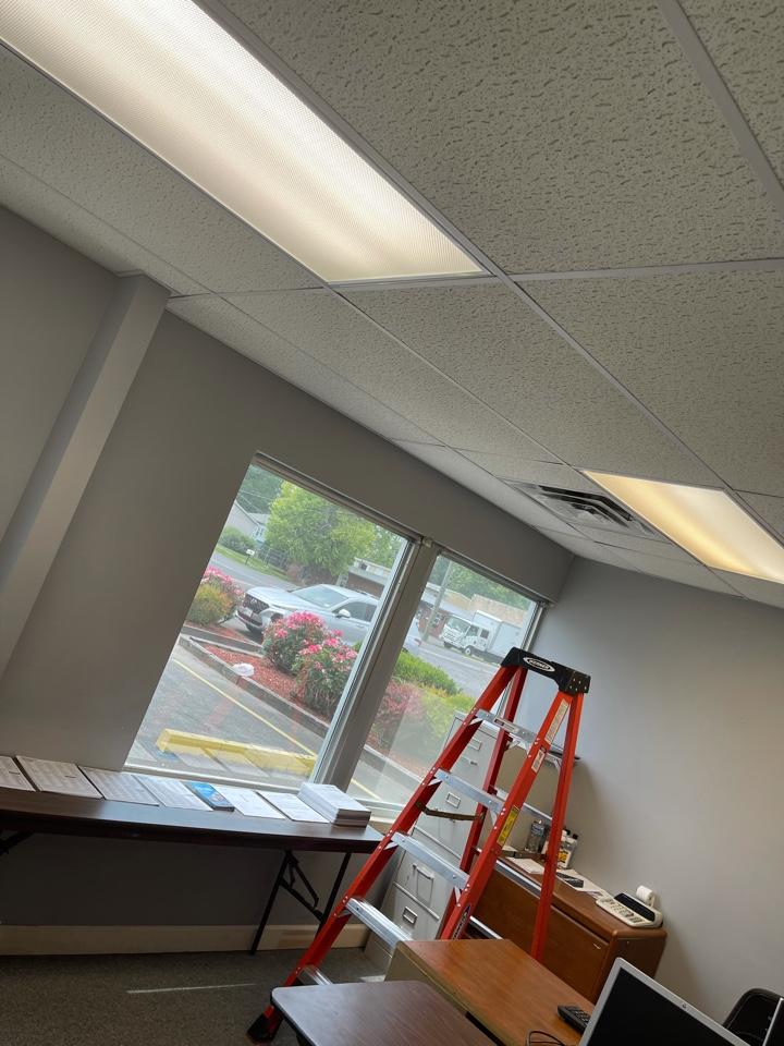 Electrician near me in dalton ga replaced 2 fluorescent light fixture ballasts.