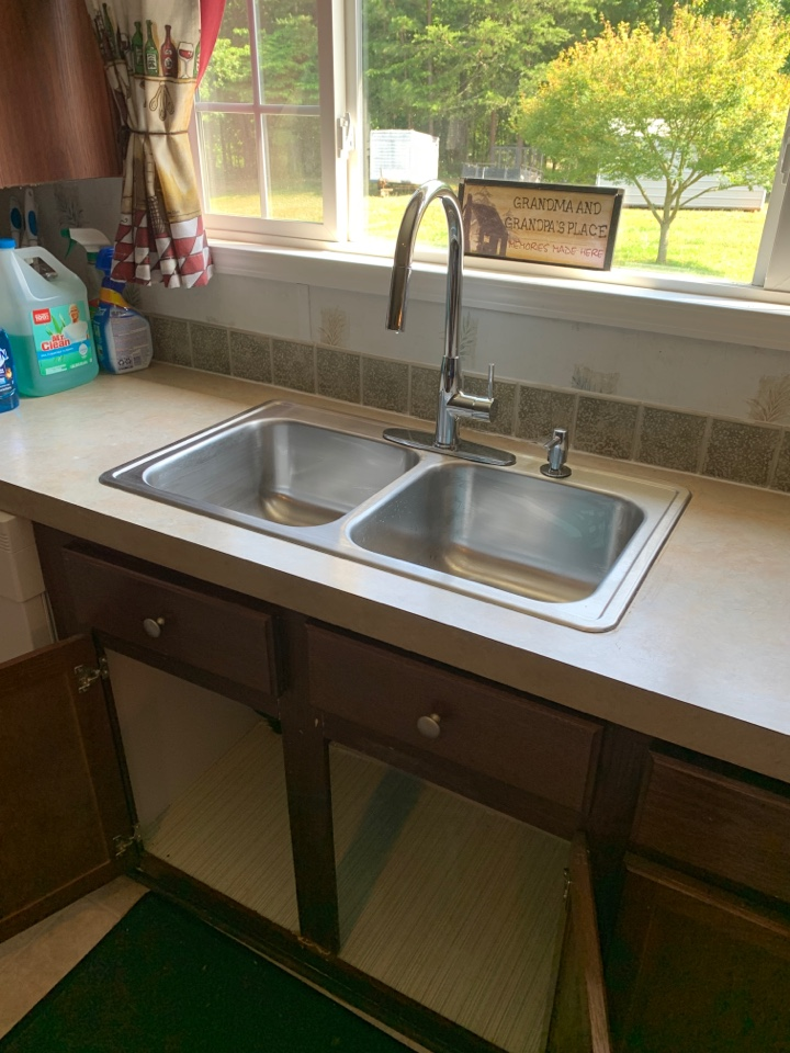 Plumber In Chatsworth, new stainless kitchen sink with chrome faucet install