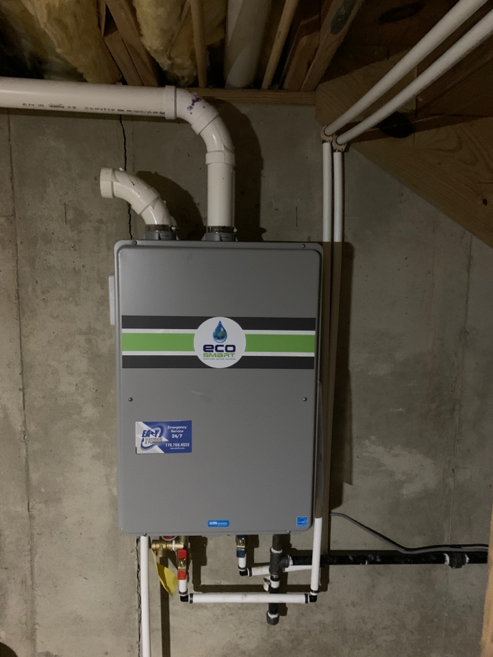 Plumber in an Airsville, new tankless water heater install