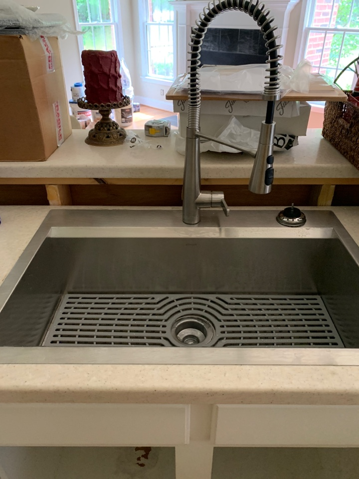 Plumber In Calhoun, new kitchen sink and faucet install