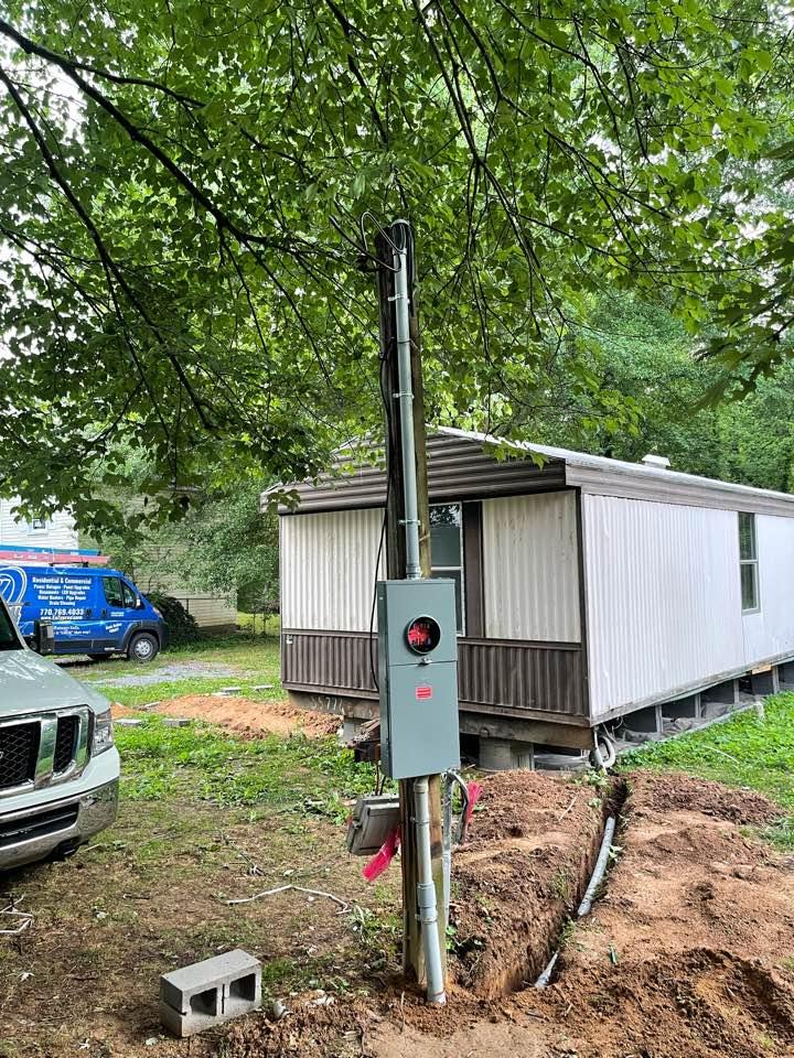 Electrician near me in dalton ga installed new mobile home service equipment