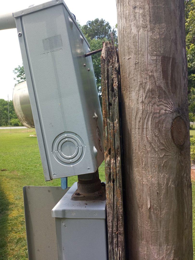 Electrician near me in Ranger Georgia power pole repair