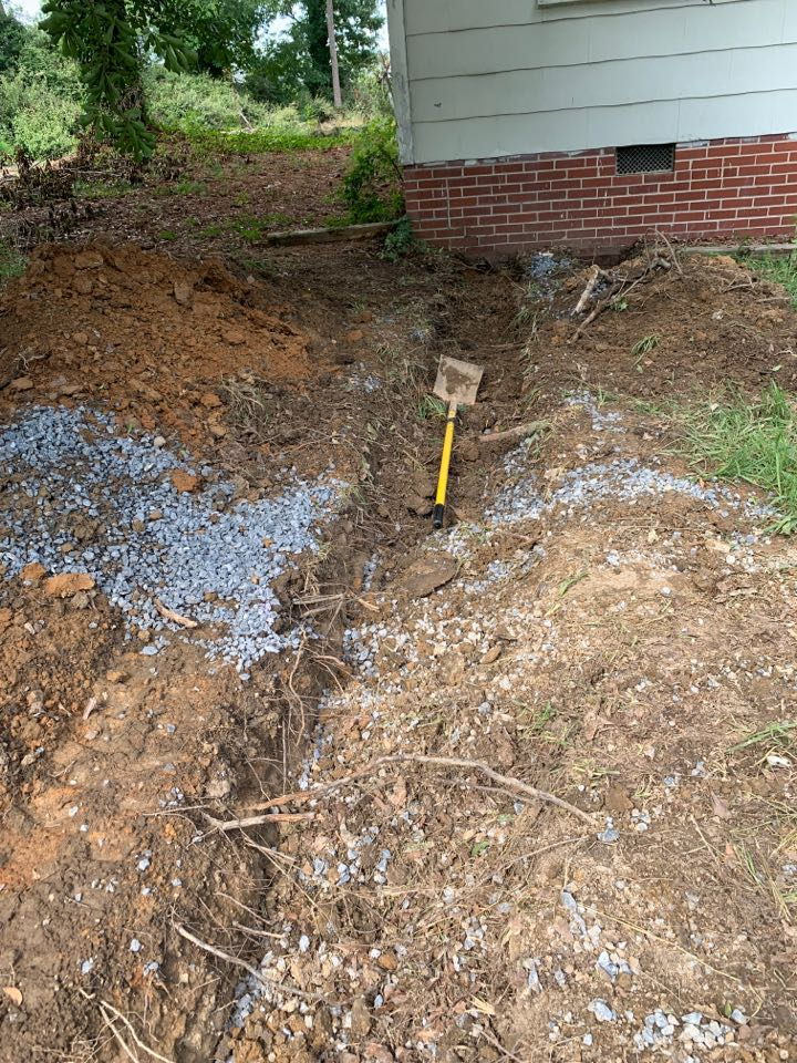 Plumber near me Rome Georgia cover-up on new sewer line