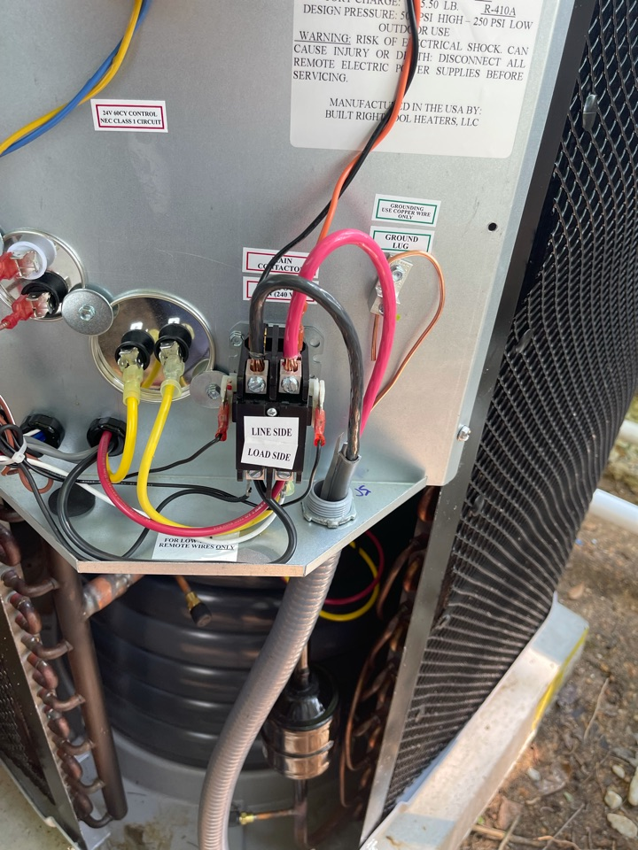 Electrician near me in adairsville ga installed new wiring for a pool heater.