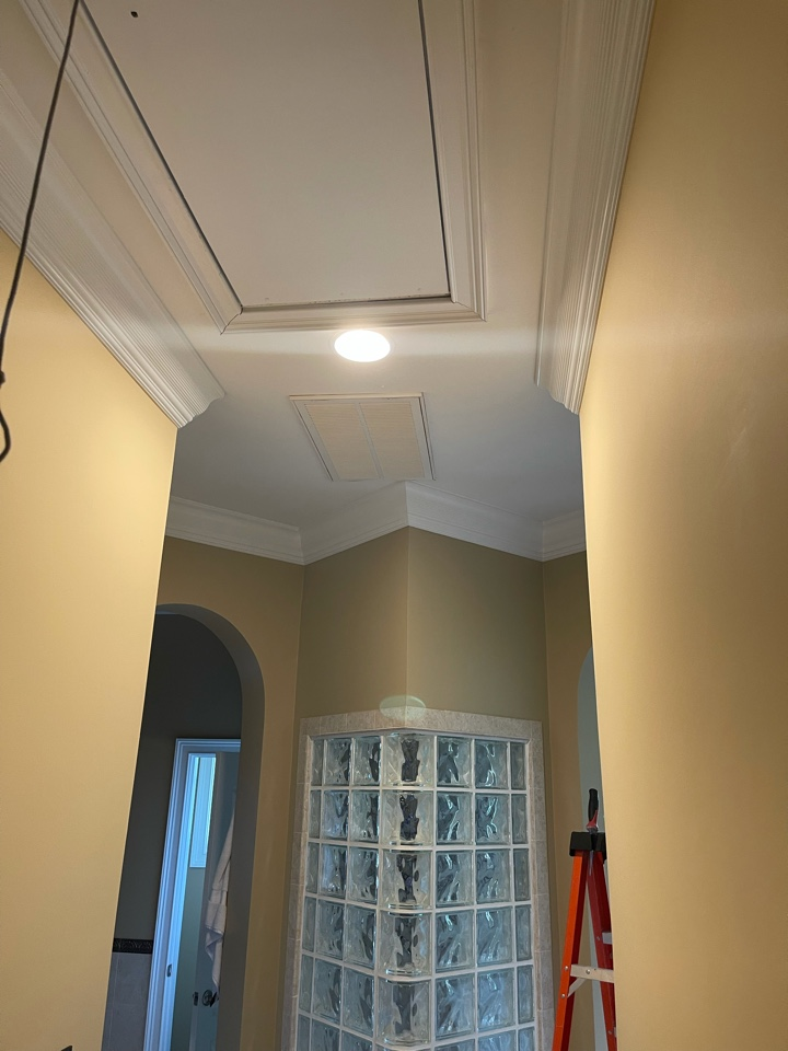 Electrician near me in cedartown ga installed 3 new tv outlets, replaced old can light trims with new style led trims. Upgraded home with new whole home surge protection.