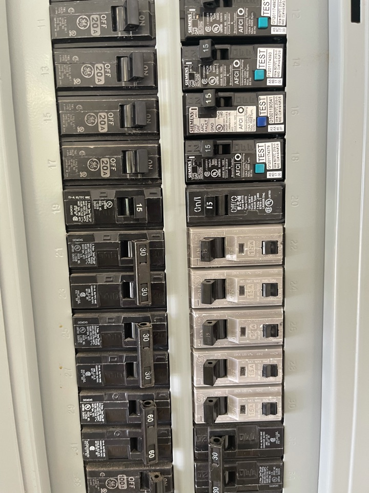 Electrician near me in resaca ga performed a diagnostics on multiple breakers tripping. Diagnostics found a power surge damaged multiple breakers. Whole home surge protection was installed along with new breakers restoring and further protecting home from damage