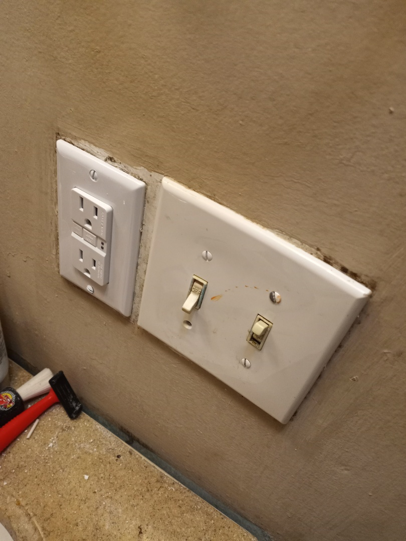 Electrician near me in Resaca Georgia replacing GFCI outlet in bathroom